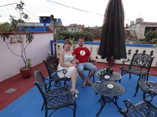 Junio 2016 - Nuestros maravillosos huéspedes de España y Polonia en la terraza