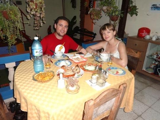 Junio 2016 - Nuestros huéspedes de España y Polonia en el salón bar-restaurante