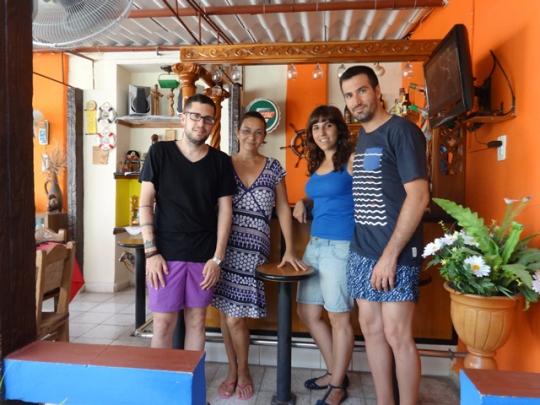 Julio 2016 - Con nuestros huéspedes de España