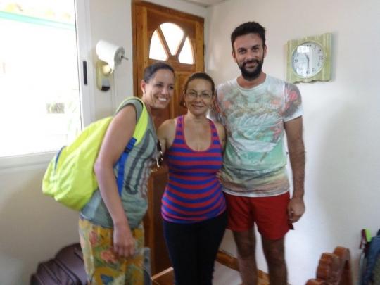 Junio 2017 - Mayra con nuestros simpáticos huéspedes