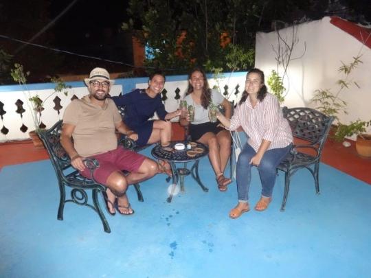 Noviembre 2017 - Nuestros huéspedes en la terraza