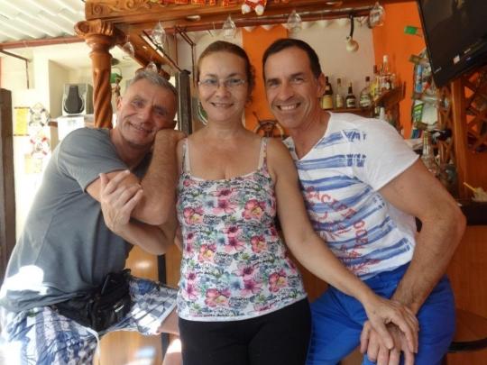 Diciembre 2017 - Mayra con nuestros simpáticos huéspedes de Italia