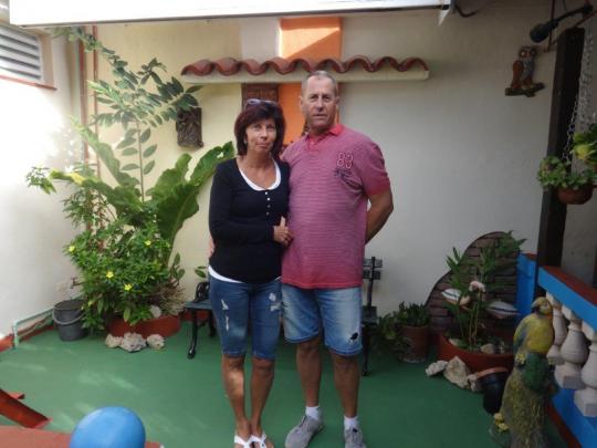 Diciembre 2018 - Huéspedes de Hungría disfrutando de la estancia en nuestra casa
