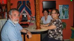 Bella familia chilena residente en Suiza - Disfrutando un buen mojito en nuestro Bar La Terraza