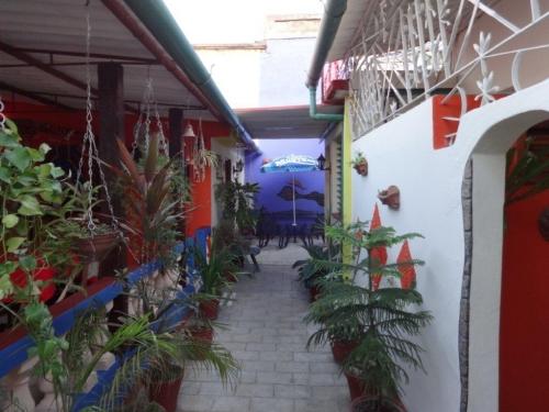 Casa en Cienfuegos Cuba - Pasillo interior que lleva a las habitaciones y áreas de estar