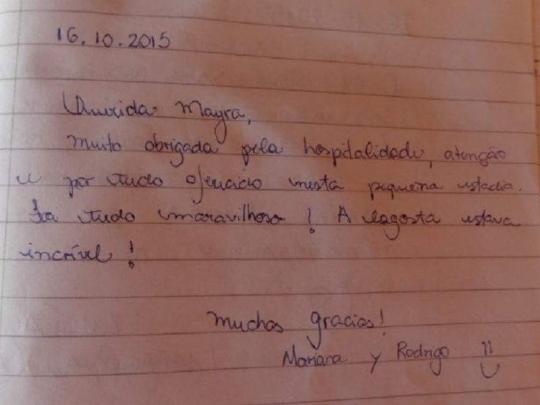 Hostal La Terraza de Adalberto y Mayra en Cienfuegos Cuba - 16 de Octubre 2015 - Testimonio de nuestros huéspedes
