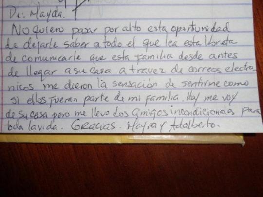 Testimonio de nuestra huésped cubano americana