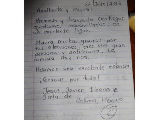 Testimonio de nuestros huéspedes de México
