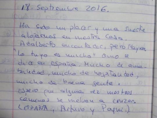 Testimonio de nuestros huéspedes de España