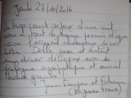 Testimonio de nuestros huéspedes de Francia