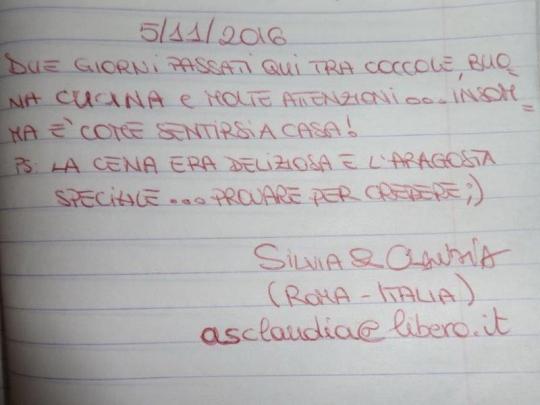 Testimonio de nuestras huéspedes de Italia