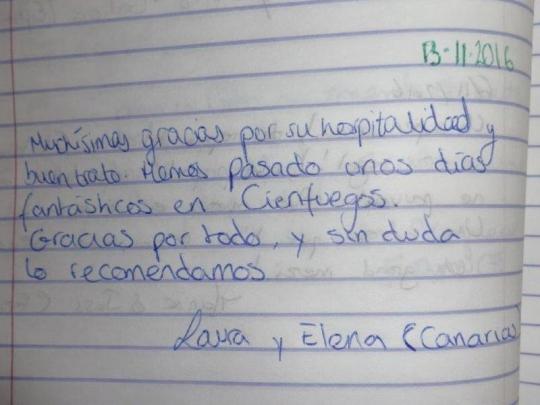 Testimonio de nuestras huéspedes de Canarias España