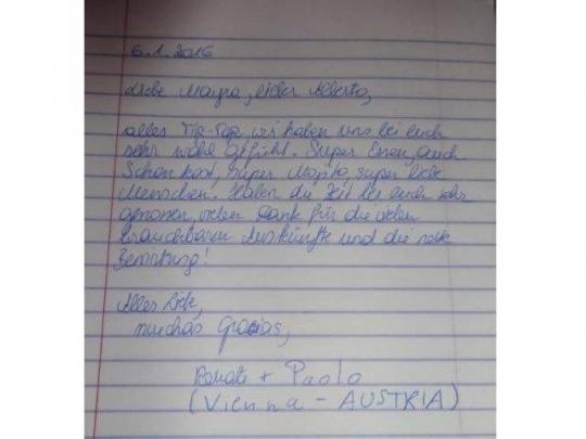 Testimonio de nuestros huéspedes de Austria