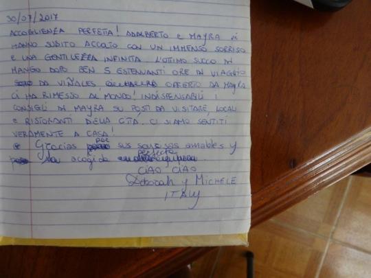 Testimonio de nuestros huéspedes de Italia
