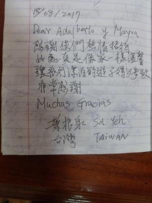 Testimonio de nuestros huéspedes de Taiwan