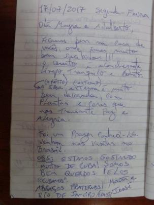 Testimonio de nuestros huéspedes de Brasil