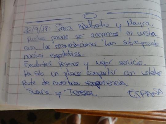 Testimonio de nuestras huéspedes de España