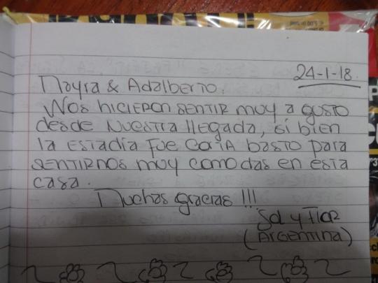Testimonio de nuestros huéspedes de Argentina