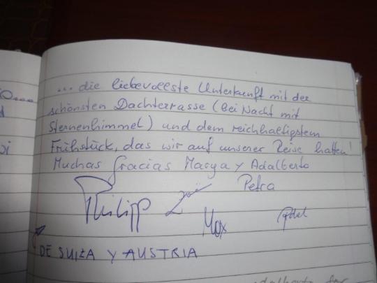 Testimonio de nuestros huéspedes de Suiza y Austria